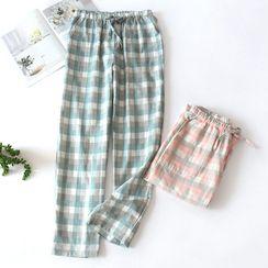 MelMount - Couple Matching Plaid Lounge Pants