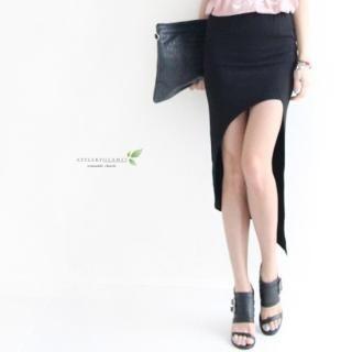 GLAM12 - Dip-Back Cotton Skirt