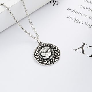 JZ Concept - 925 Sterling Silver Peace Pigeon Pendant Necklace