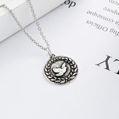 JZ Concept - 925 Sterling Silver Peace Pigeon Pendant Necklace