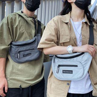 SUNMAN - Label Nylon Belt Bag