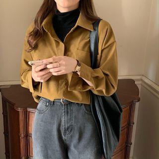IKIO - Long-Sleeve Mock Two-Piece Polo Shirt
