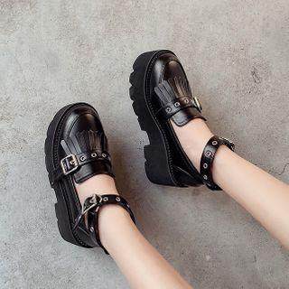 Anran - Platform Ankle Strap Loafers