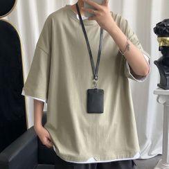 Sindel - Mock Two-Piece 3/4-Sleeve T-Shirt