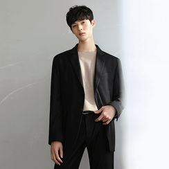 MRCYC - Single-Breasted Blazer / Straight-Fit Dress Pants