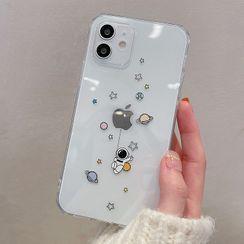 Aion(アイオン) - Astronaut Print Transparent Phone Case - iPhone 12 Pro Max / 12 Pro / 12 / 12 mini / 11 Pro Max / 11 Pro / 11 / SE / XS Max / XS / XR / X / SE 2 / 8 / 8 Plus / 7 / 7 Plus