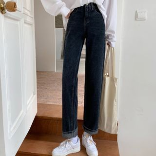 Sisyphi - High-Waist Straight Leg Jeans