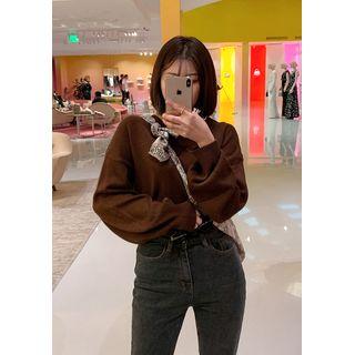 chuu - V-Neck Drop-Shoulder Sweater