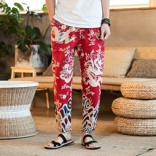 Andrei - Dragon Print Straight Cut Pants