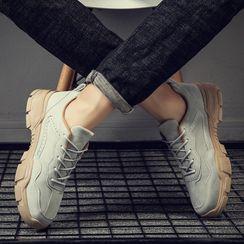 MARTUCCI - Velvet Platform Sneakers