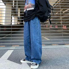 Shineon Studio - Straight Cut Wide Leg Jeans