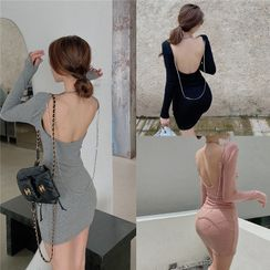 Tidel - Long-Sleeve Mini Sheath Dress