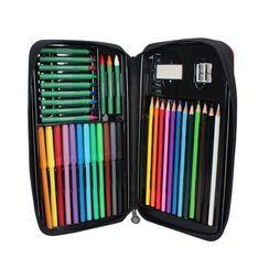 Sorah - 套裝: 彩色鉛筆 + 水彩筆 + 蠟筆 + 橡皮擦 + 鉛筆刨