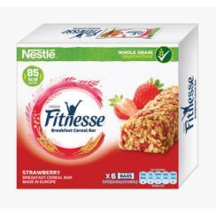 Three O'Clock - Nestle Fitnesse Strawberry Cereal Bar (pack of 6)