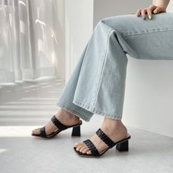 Wifky - Braid Strap Mule Sandals