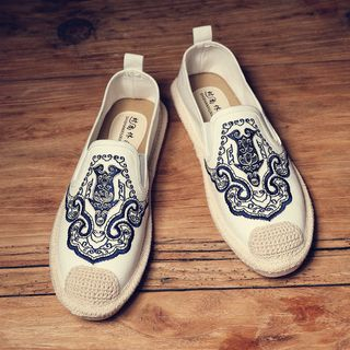 B-Z - Canvas Embroidered Slip-ons