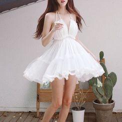Yuxi - Halter Backless A-line Sundress