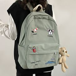 CHIN CHIN - Embroidered Zip Backpack