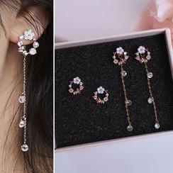 Joodii - Rhinestone Floral Earring (Various Designs)