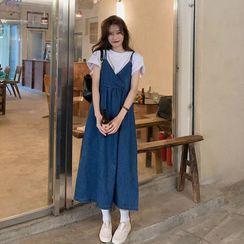 Closette - Sleeveless Denim Dress