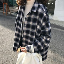 Rocho - Long-Sleeve Oversized Flannel Shirt