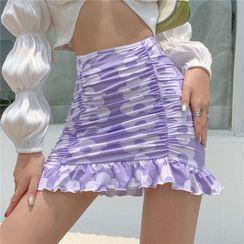 HERMITAKH - Floral Mini Pencil Skirt