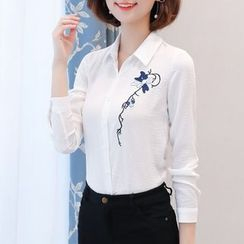 In the Mood - Print Long-Sleeve Blouse