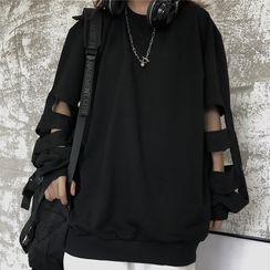 Banash - Cut Out Long-Sleeve T-Shirt