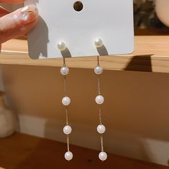 Catalunya - Faux Pearl Dangle Earrings