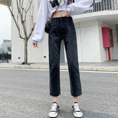 Korenina - 九分直筒牛仔褲