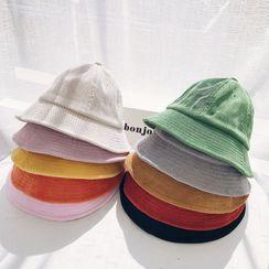 LANWO - Plain Corduroy Bucket Hat