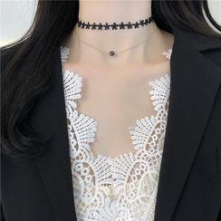 Madikara - 多层钩织蕾丝贴脖项链