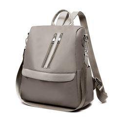 Selinda - Multi-Way Zip Detail Lightweight Backpack