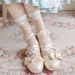 Sayaka - 花朵袜子