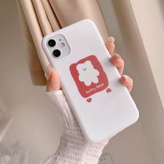 kloudkase - Bear Print Phone Case - iPhone 11 Pro Max / 11 Pro / 11 / SE / XS Max / XS / XR / X / SE 2 / 8 / 8 Plus / 7 / 7 Plus / AirPods Pro Earphone Case Cover