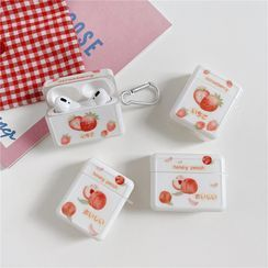 Capritz - Strawberry/Peach Printed AirPods / AirPods Pro Earphone Case Cover
