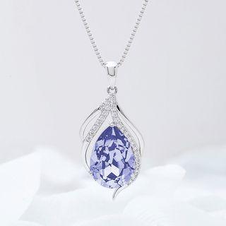 Muscovite - 施华洛世奇元素水晶吊坠项链