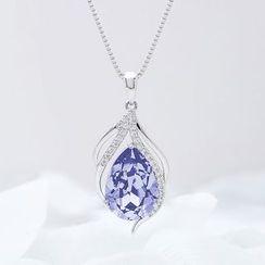 Muscovite - Swarovski Elements Crystal Pendant Necklace