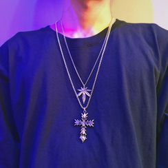 InShop Watches - Alloy Leaf / Cross Pendant Necklace