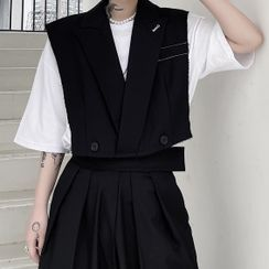 Bjorn - Double-Breasted Cropped Vest