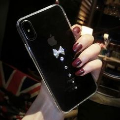 Chian - Rhinestone Mobile Case - iPhone X / 8 / 8 Plus / 7 / 7 Plus / 6s / 6s Plus