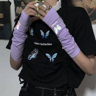 Porstina - Reflective Butterfly Sun Protection Arm Sleeves