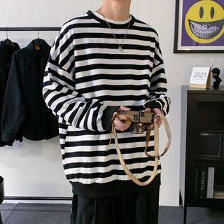 Zentrus - Long-Sleeve Striped Sweatshirt