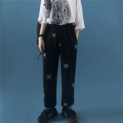 Porstina - Butterfly Print Sweatpants