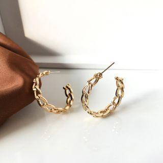 Yambo - Chain Hoop Drop Earring