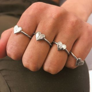 Seirios - Set: Alloy Alphabet Heart Ring