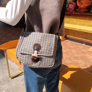 Milha - Plaid Square Crossbody Bag