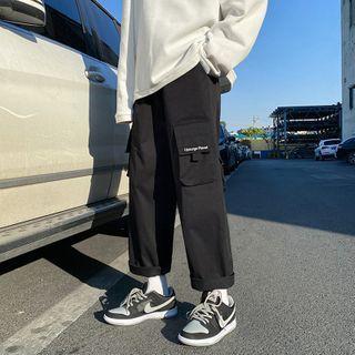 Oakjam - 字母印花工装运动裤