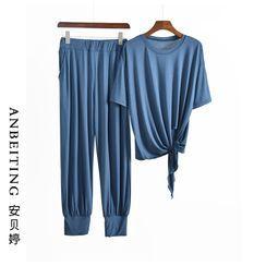 Anbeitin - 家居服套装: 短袖束襬T裇 + 哈伦裤