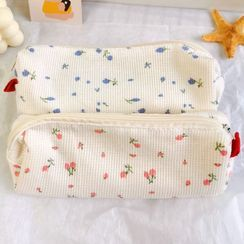 Ikiana - Floral Print Fabric Pencil Case